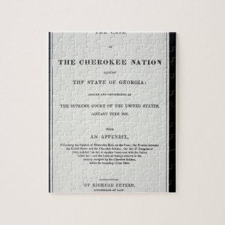 zona del Anti-retiro, por la nación cherokee, en r Rompecabeza