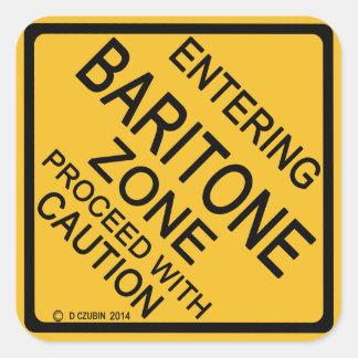 Zona del barítono que entra pegatina cuadrada