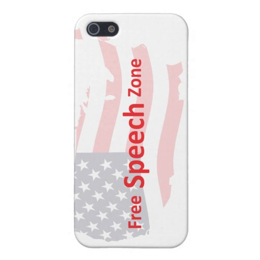 Zona del discurso libre iPhone 5 carcasa