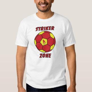 Zona del huelguista por J-MES-Red-Rojo/el oro Polera