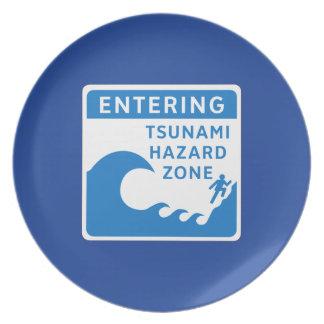 Zona del peligro del tsunami, Columbia Británica, Plato De Comida