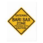 Zona del saxofón de Bari que entra Postales