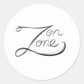 Zona del zen etiquetas redondas