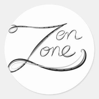 Zona del zen etiqueta redonda
