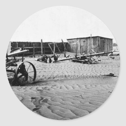 Zona desértica 1935. pegatina redonda