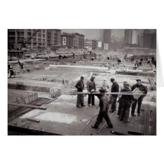 Zona este NYC del emplazamiento de la obra de Tarjeta De Felicitación