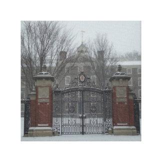 Zona este Providence, escena del invierno de RI Impresion En Lona