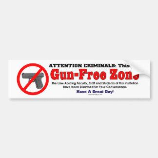 Zona franca de arma pegatina de parachoque