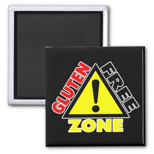 Zona franca del gluten (enfermedad celiaca - alerg imán de frigorífico