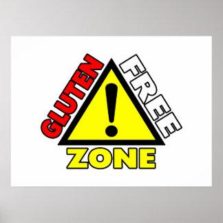 Zona franca del gluten (enfermedad celiaca - alerg póster