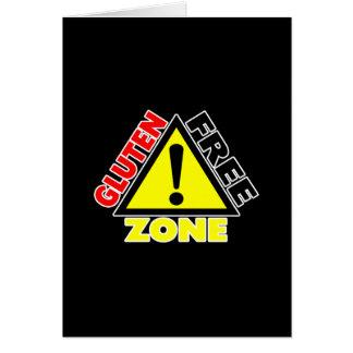 Zona franca del gluten (enfermedad celiaca - alerg tarjeta de felicitación