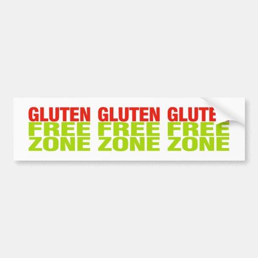 Zona franca del gluten (enfermedad celiaca) etiqueta de parachoque