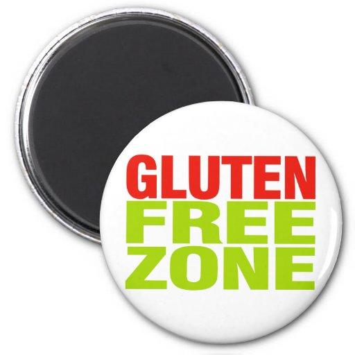 Zona franca del gluten (enfermedad celiaca) iman de frigorífico