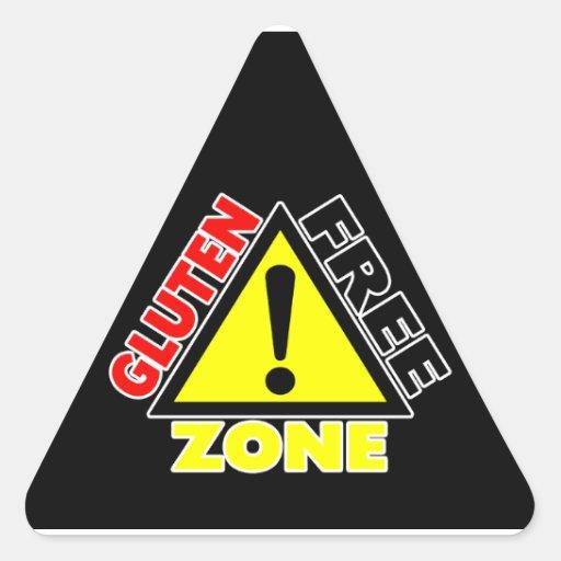 Zona franca del gluten (enfermedad celiaca - pegatina triangular
