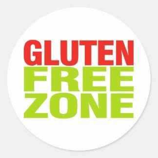 Zona franca del gluten enfermedad celiaca pegatina