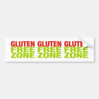 Zona franca del gluten (enfermedad celiaca) pegatina para auto