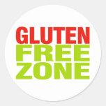 Zona franca del gluten (enfermedad celiaca) pegatina redonda