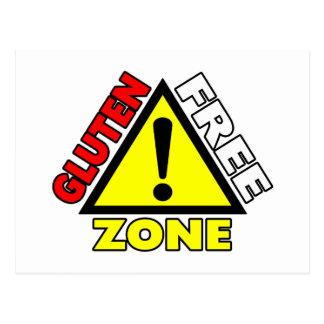 Zona franca del gluten (enfermedad celiaca - postal