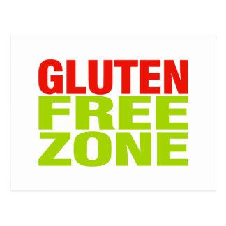 Zona franca del gluten (enfermedad celiaca) postal