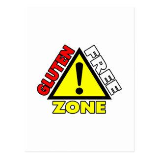 Zona franca del gluten (enfermedad celiaca - postales