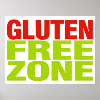 Zona franca del gluten (enfermedad celiaca) póster
