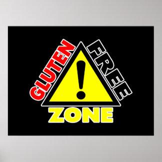 Zona franca del gluten (enfermedad celiaca - póster