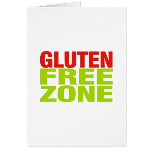 Zona franca del gluten (enfermedad celiaca) tarjeta de felicitación