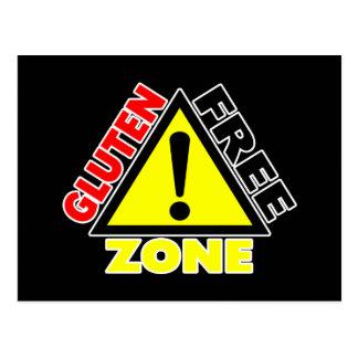 Zona franca del gluten (enfermedad celiaca - tarjeta postal