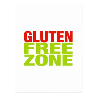 Zona franca del gluten (enfermedad celiaca) tarjeta postal