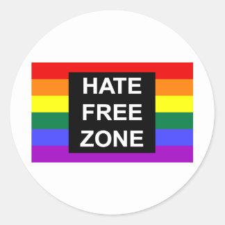 Zona franca del odio pegatinas redondas