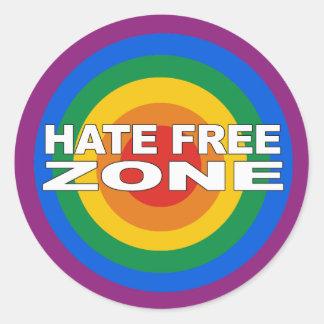 Zona franca del odio etiqueta redonda