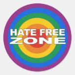 Zona franca del odio pegatina redonda