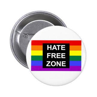 Zona franca del odio pin redondo de 2 pulgadas