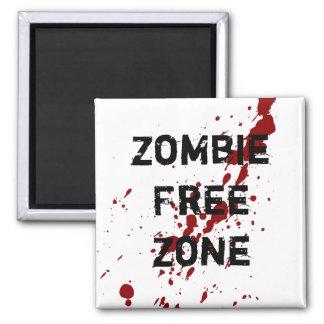 Zona franca del zombi imán cuadrado