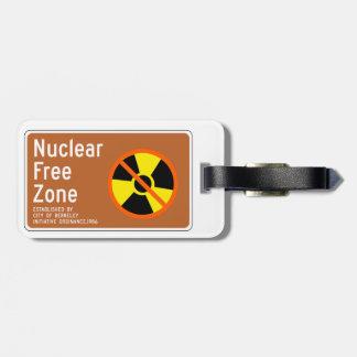 Zona franca nuclear, muestra, California, los Etiquetas De Maletas