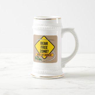Zona franca Stein del oso Jarra De Cerveza