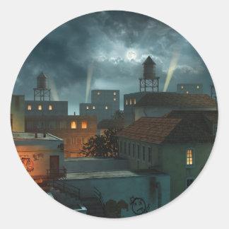 Zona Industrielle - noche Pegatina Redonda