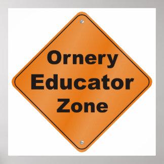 Zona intratable del educador póster