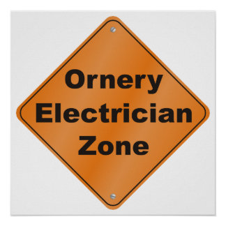 Zona intratable del electricista póster
