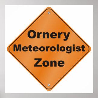 Zona intratable del meteorólogo impresiones