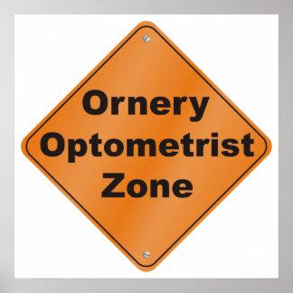 Zona intratable del optometrista posters