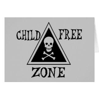 Zona Niño-Libre Tarjeta De Felicitación