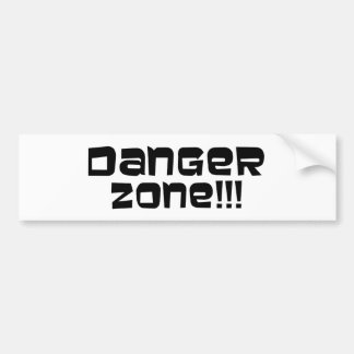 ¡Zona peligrosa!!! Etiqueta De Parachoque