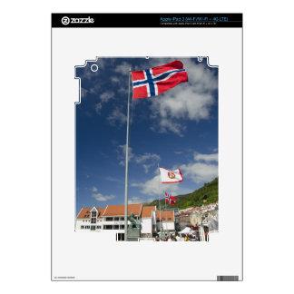 Zona portuaria histórica céntrica de Bergen con la iPad 3 Pegatinas Skins