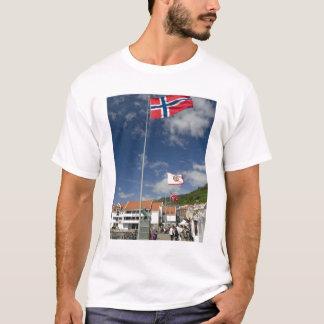 Zona portuaria histórica céntrica de Bergen con Playera