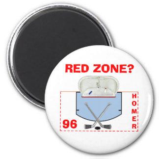 ¿Zona roja? Imán Para Frigorífico