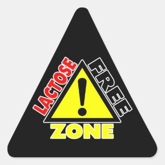 Zona sin lactosa (lechería libre) pegatina triangular