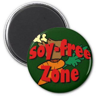 Zona Soja-Libre Imán Redondo 5 Cm