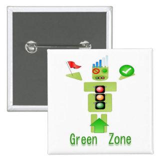 Zona VERDE económica de energía solamente Pin Cuadrado