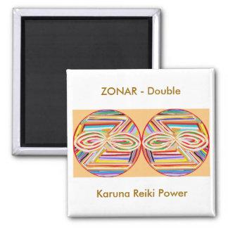 ZONAR Karuna Reiki 2 Inch Square Magnet